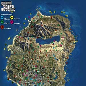 GTA 5 PS4 Map Collectibles