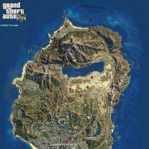 GTA 5 XBOX ONE Map Letter Scraps