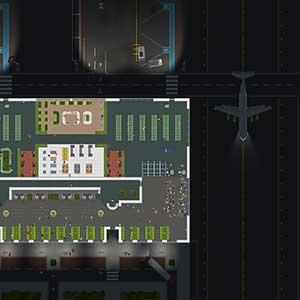 Airport Ceo Vliegveld bij nacht