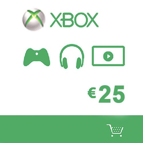 Koop Microsoft Gift Card 25 Euro Xbox Live Code Compare Prices