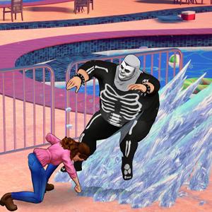 Cobra Kai The Karate Kid Saga Continues Aanval op basis van ijs