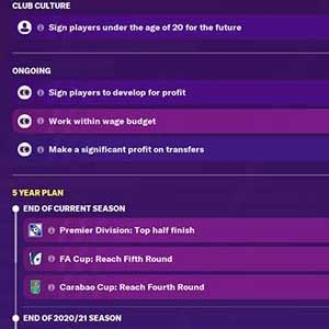 Football Manager 2021 Board