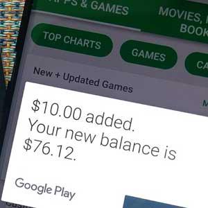 Google Play Gift Card inwisselen