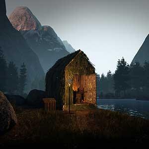 Icarus Hut bij een meer