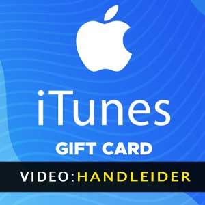 De video van de iTunes-Giftkaart van de aanhangwagen