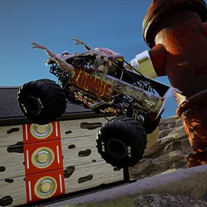 Monster Jam Steel Titans 2 De Vrachtwagen van het zombiemonster