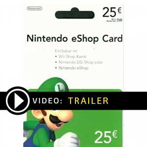 Koop Nintendo eShop 25 Euro Kaart Prijsvergelijker