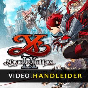 Ys IX Monstrum Nox Video-opname
